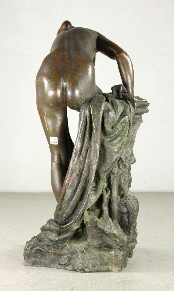 Devillez, Sculpture Of A Nude Bather, Bronze - 4