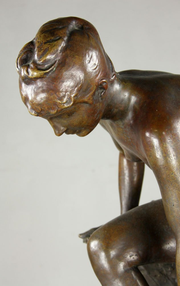 Devillez, Sculpture Of A Nude Bather, Bronze - 5