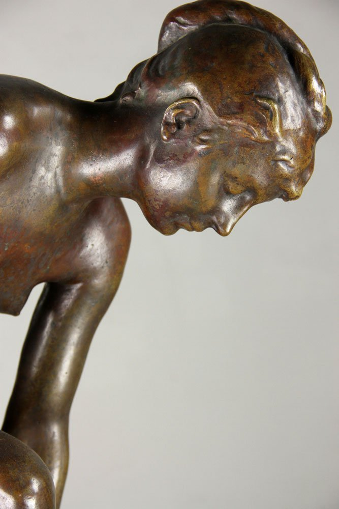 Devillez, Sculpture Of A Nude Bather, Bronze - 8