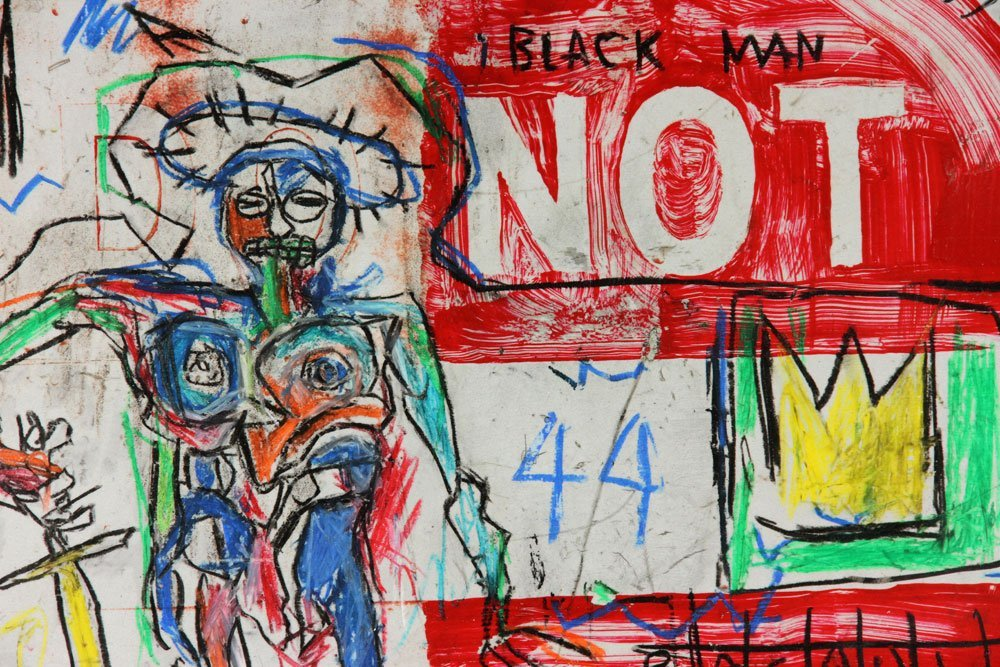 After Basquiat, Oil Sticks on Metal - 3