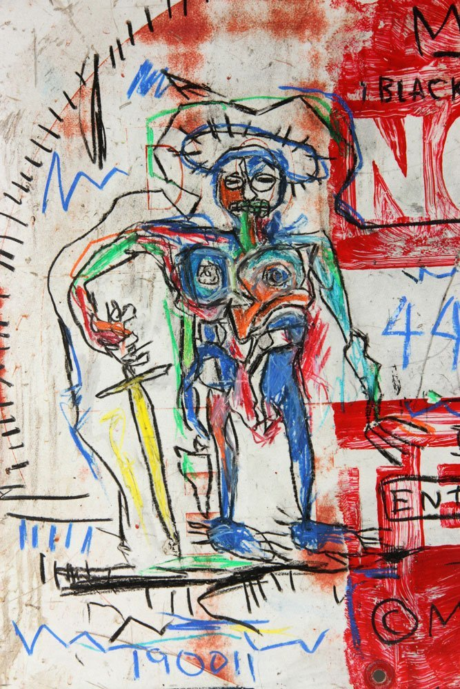 After Basquiat, Oil Sticks on Metal - 5