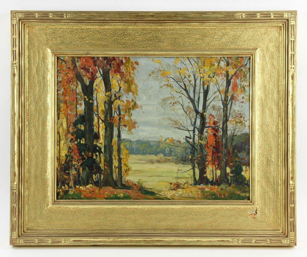 """Prybot, """"Autumn,"""" Oil on Panel"""