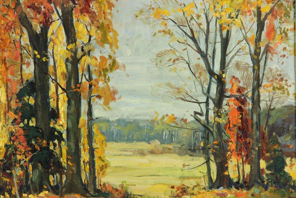 """Prybot, """"Autumn,"""" Oil on Panel - 2"""