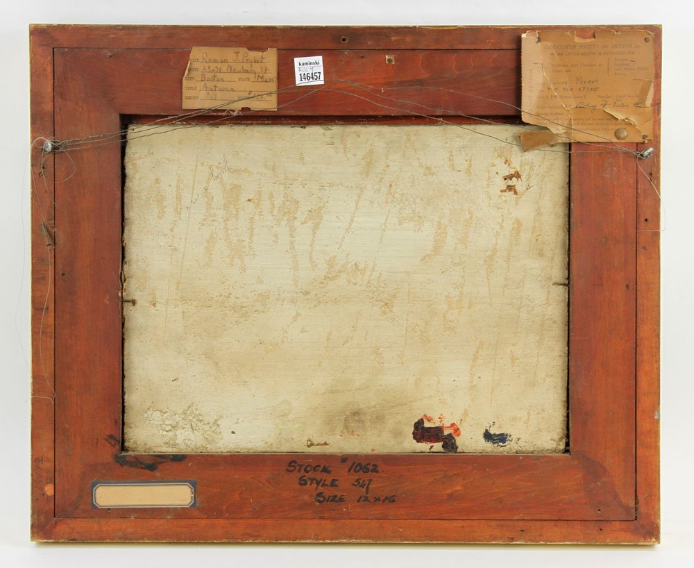 """Prybot, """"Autumn,"""" Oil on Panel - 3"""