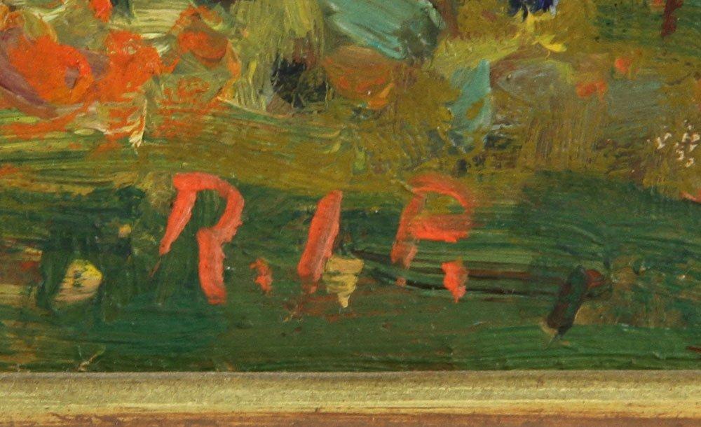 """Prybot, """"Autumn,"""" Oil on Panel - 6"""