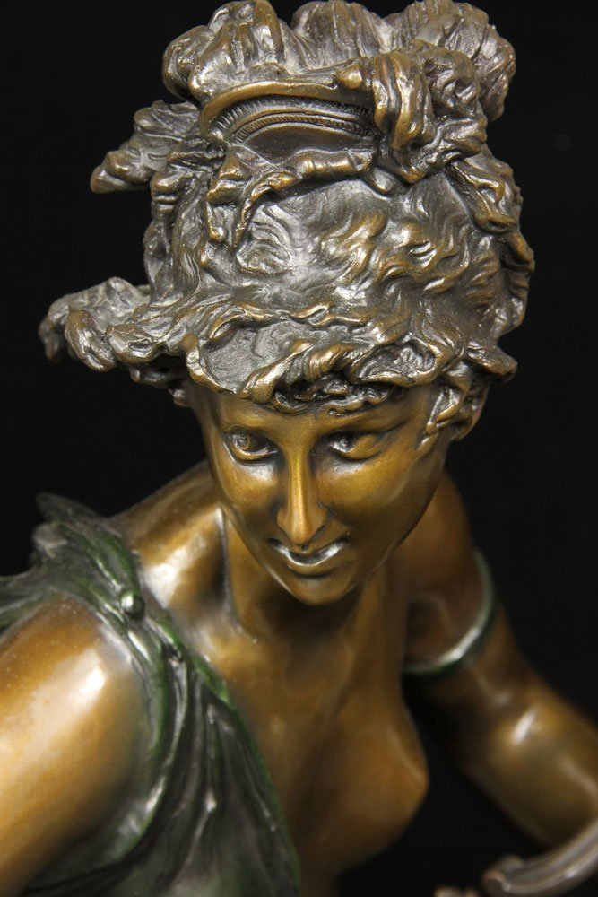 After Carrier-Belluese, Woman with Lyre, Bronze - 2