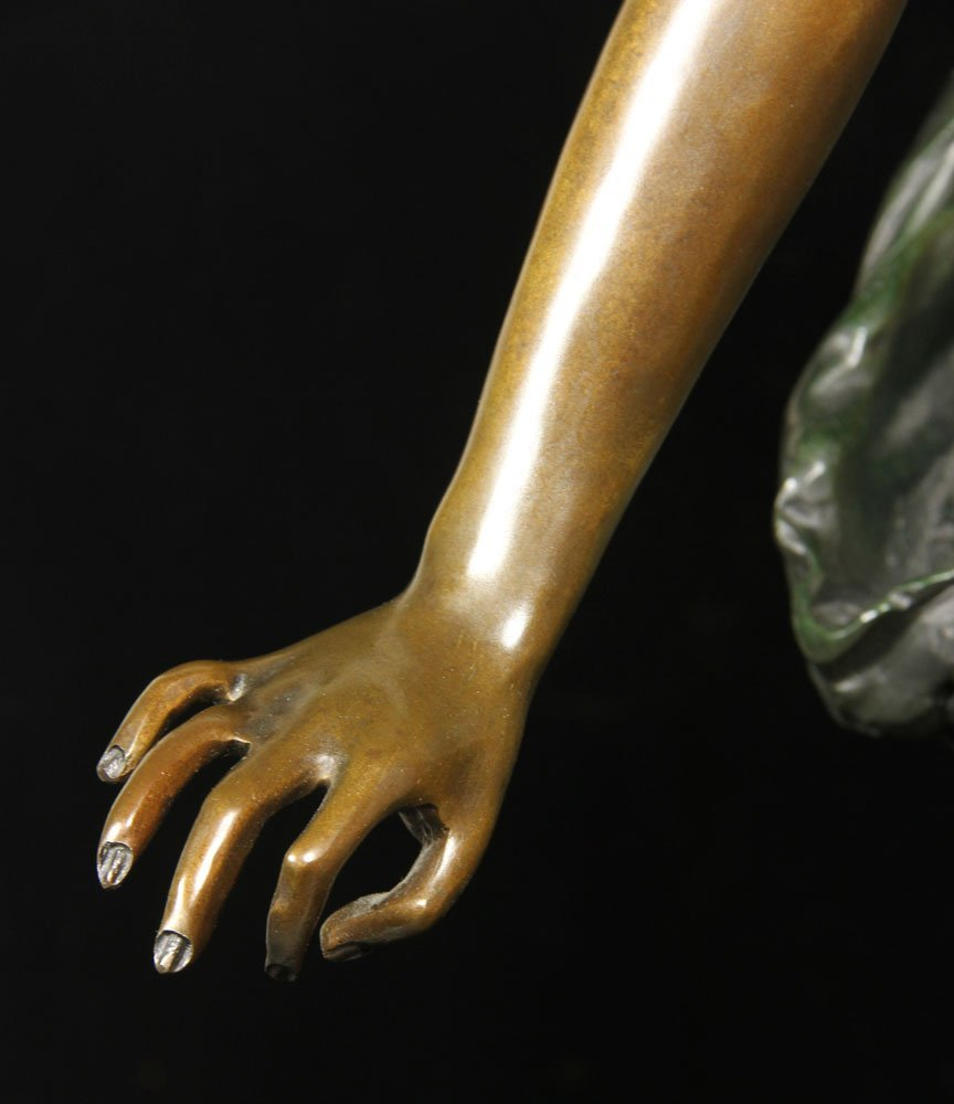 After Carrier-Belluese, Woman with Lyre, Bronze - 4