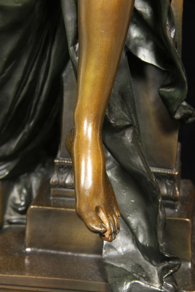 After Carrier-Belluese, Woman with Lyre, Bronze - 5