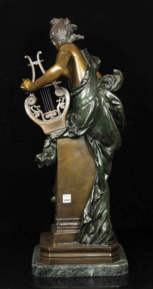 After Carrier-Belluese, Woman with Lyre, Bronze - 6