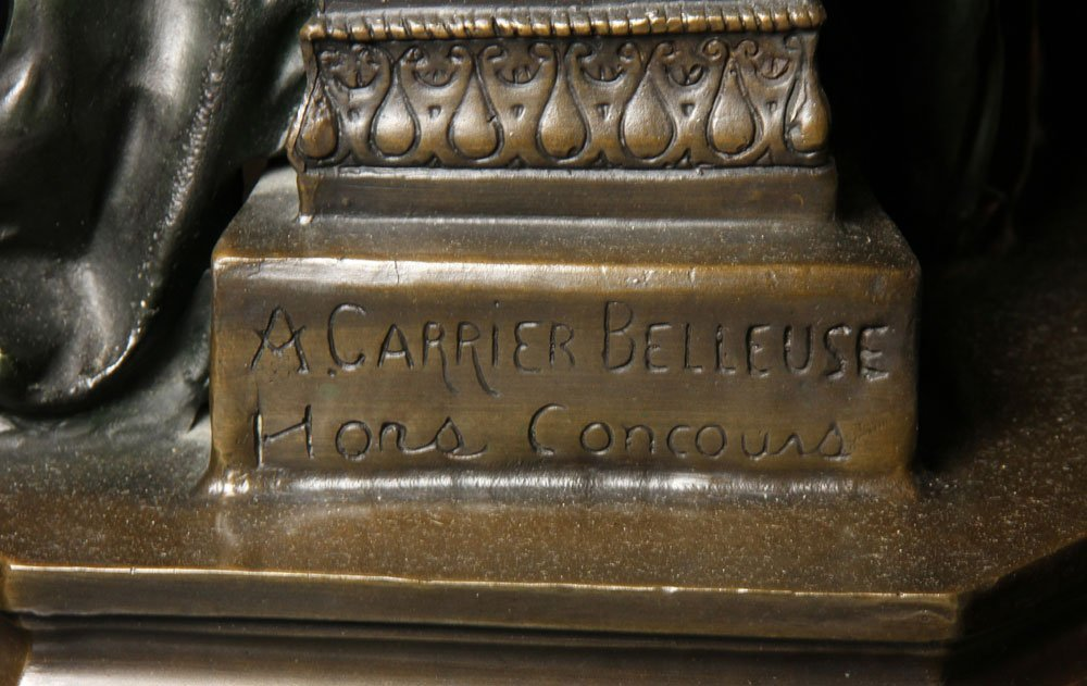 After Carrier-Belluese, Woman with Lyre, Bronze - 7