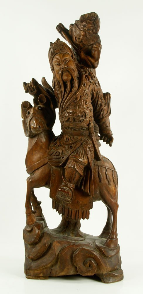 Late 19th C. Chinese Carved Wood Figure
