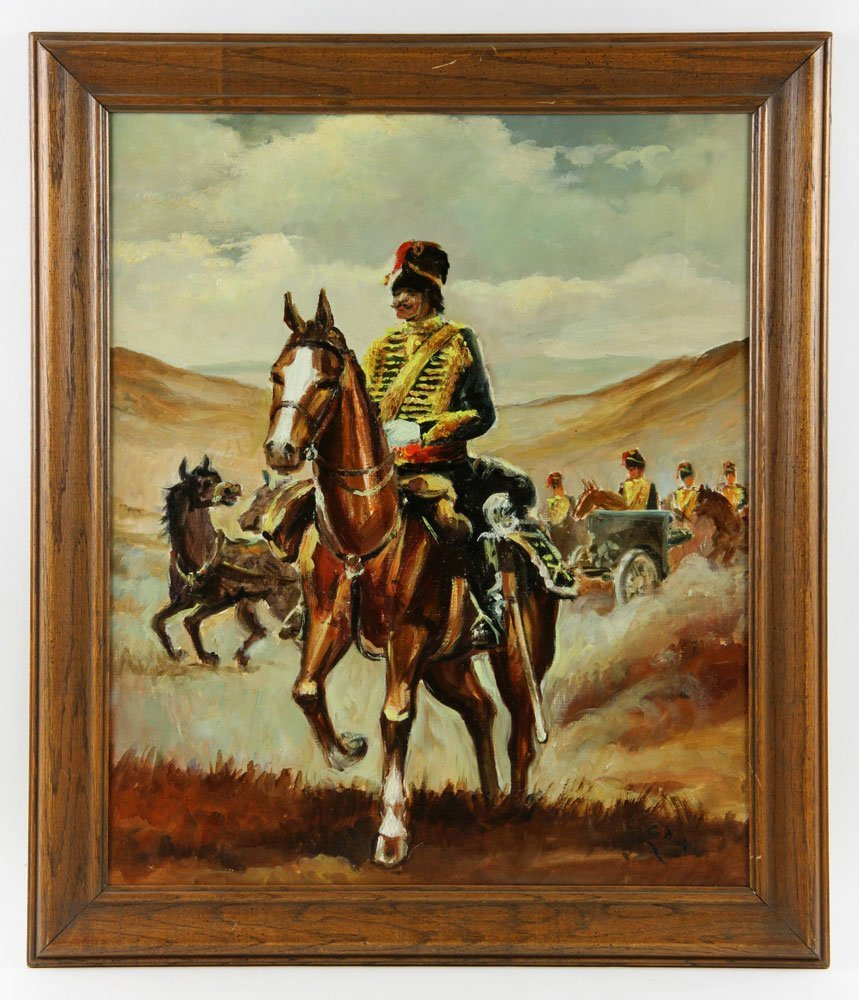 Van Doorn (Dutch), Cavalry On Horseback, Oil on Canvas