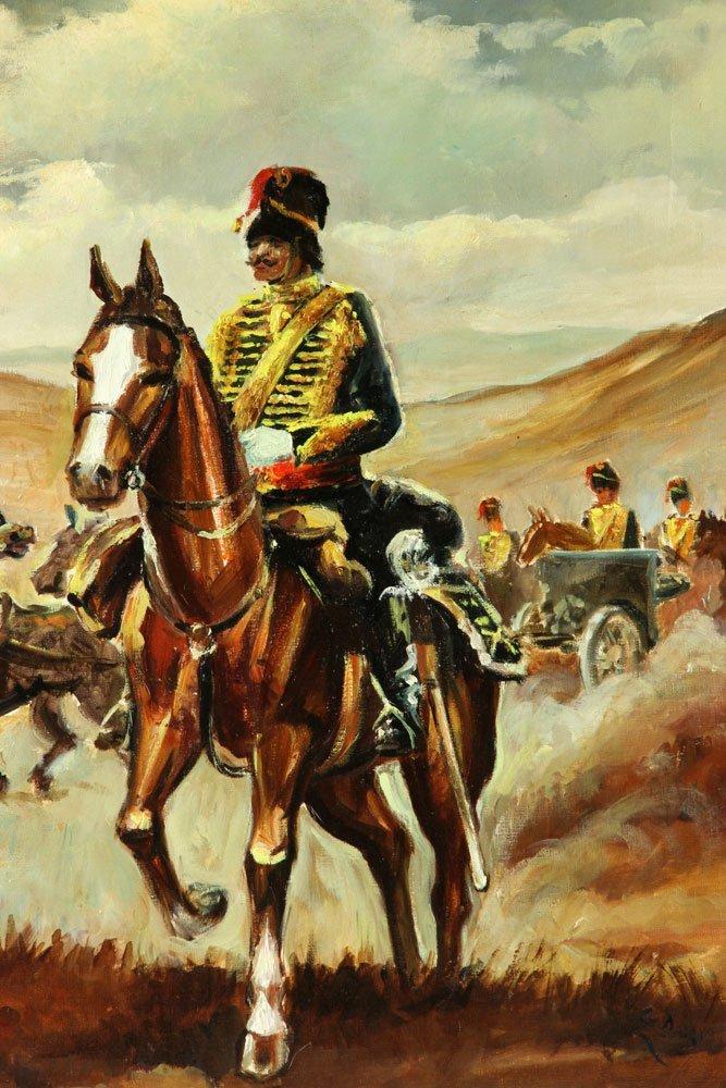 Van Doorn (Dutch), Cavalry On Horseback, Oil on Canvas - 2