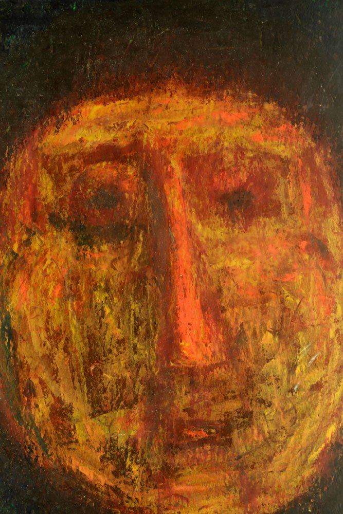 Abstract Portrait, Oil on Board - 3