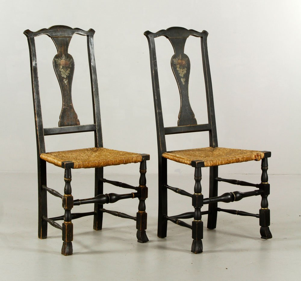 Pr. Queen Anne Side Chairs