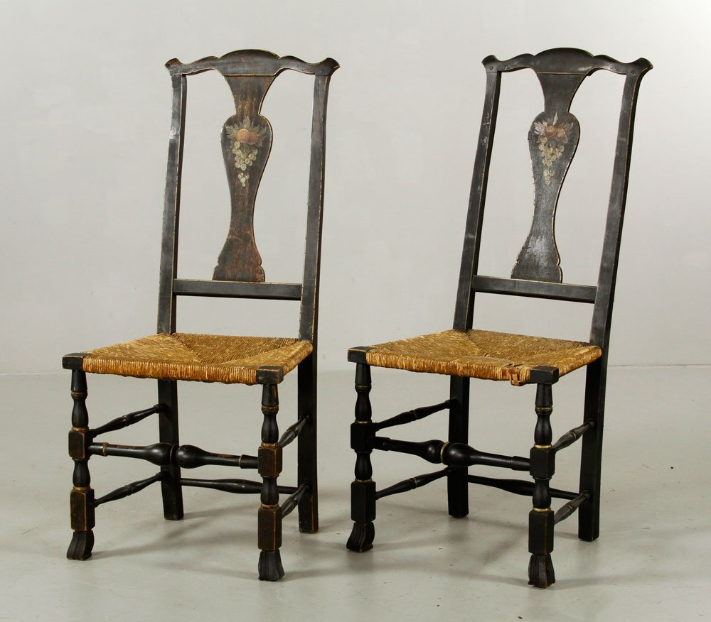 Pr. Queen Anne Side Chairs - 4