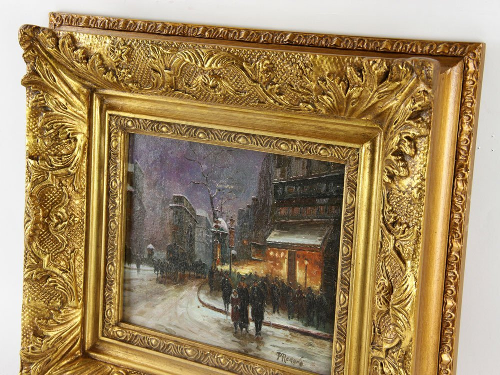 Renard, Paris Street Scene, Oil on Panel - 3