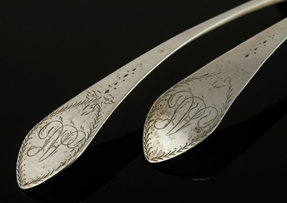 Two 18th C. Connecticut Silver Spoons - 2