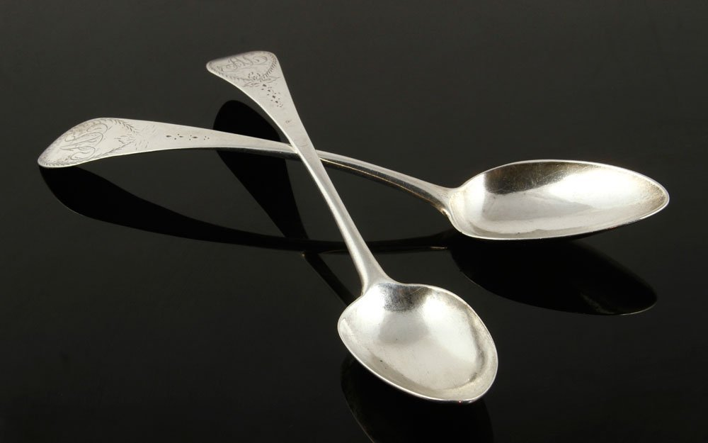 Two 18th C. Connecticut Silver Spoons - 3