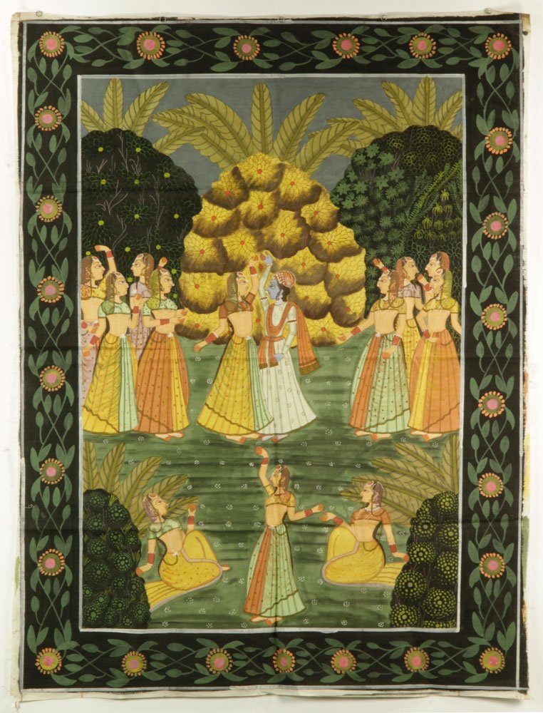 4 Indian Paintings on Linen - 2