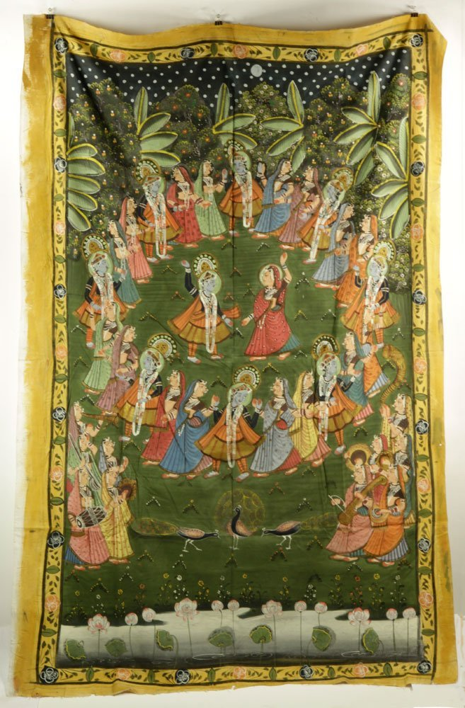 4 Indian Paintings on Linen - 4