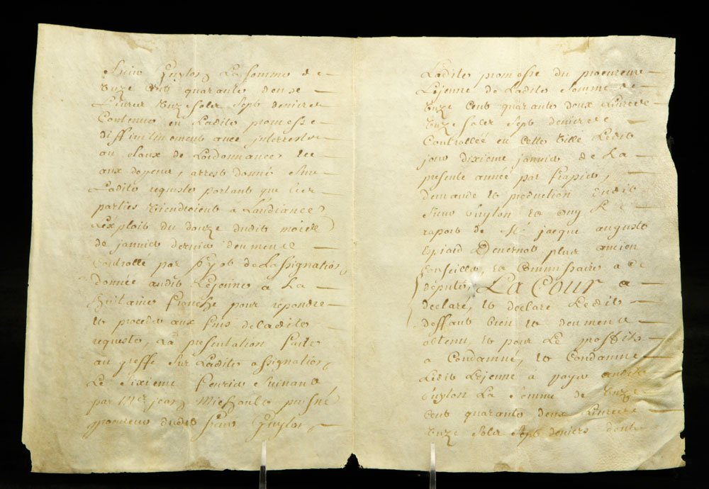 Lot of Early French Documents