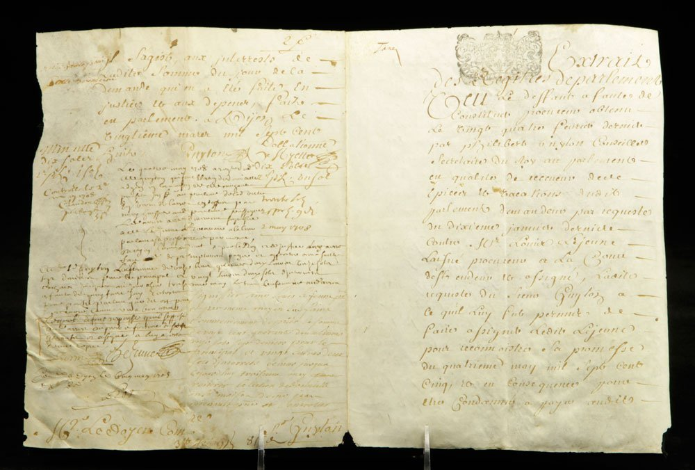 Lot of Early French Documents - 2