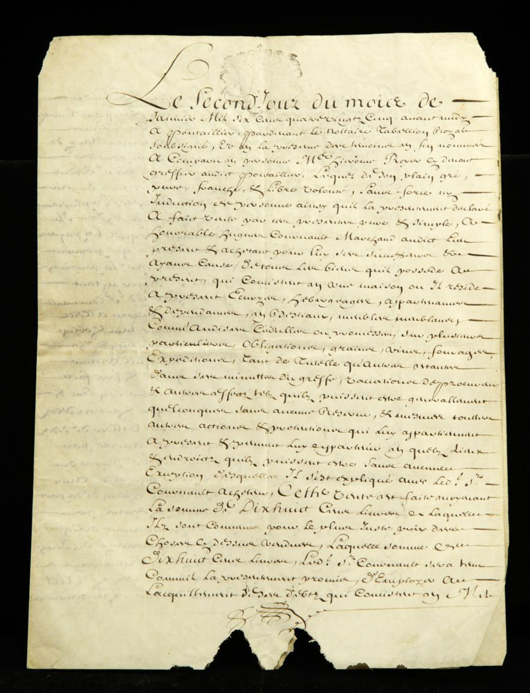 Lot of Early French Documents - 5