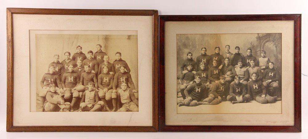 Three Albumen Photographs of Harvard Football Teams - 2