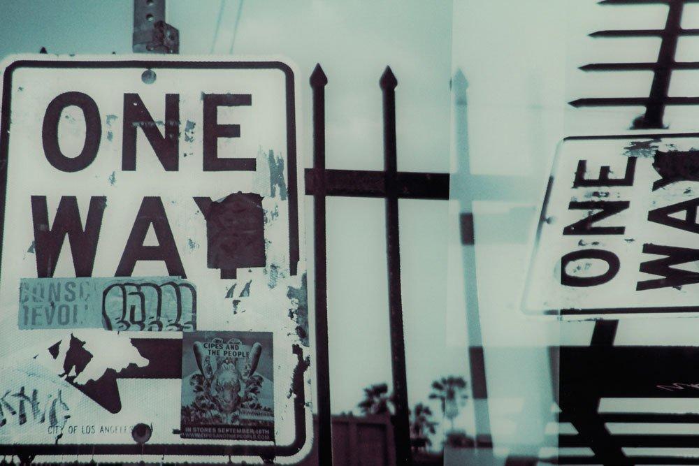 "Rose and Hajjar, ""One Way,"" Digital Color Coupler Print - 2"