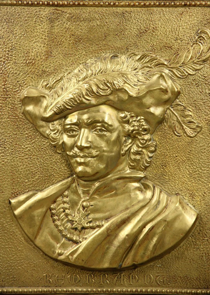 Brass Plated Portrait Plaque of Rembrandt - 2
