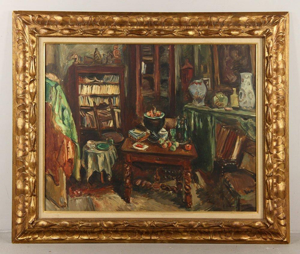 Friesz, Interior Scene, Oil on Canvas