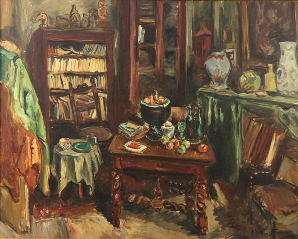 Friesz, Interior Scene, Oil on Canvas - 2
