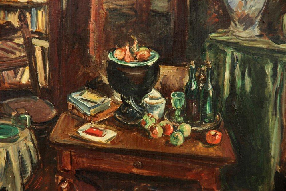 Friesz, Interior Scene, Oil on Canvas - 3
