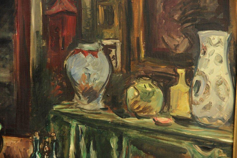Friesz, Interior Scene, Oil on Canvas - 4