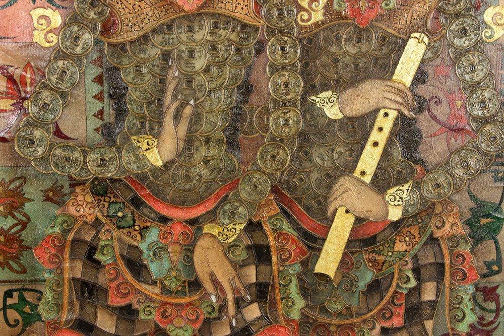 Trawan, Balinese Painting of Dancers, Oil - 5