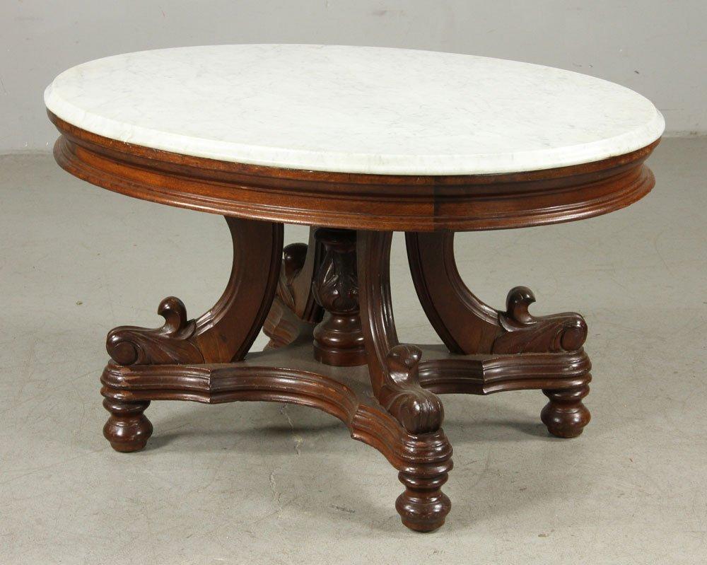 19th C. Victorian Walnut Table - 3