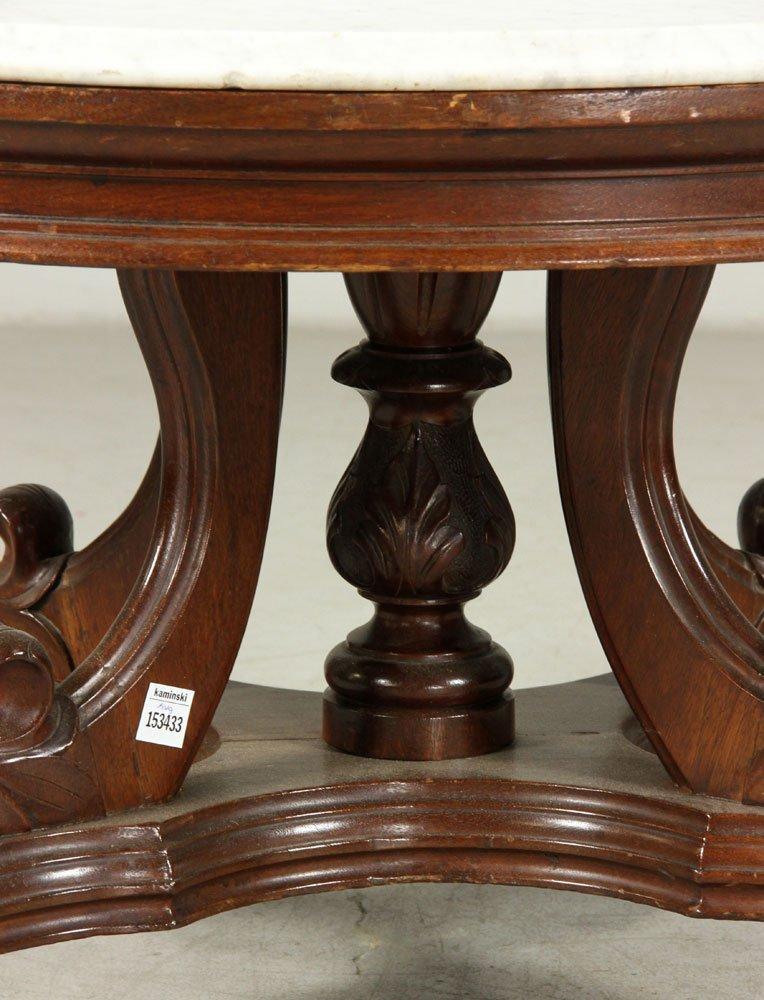 19th C. Victorian Walnut Table - 6