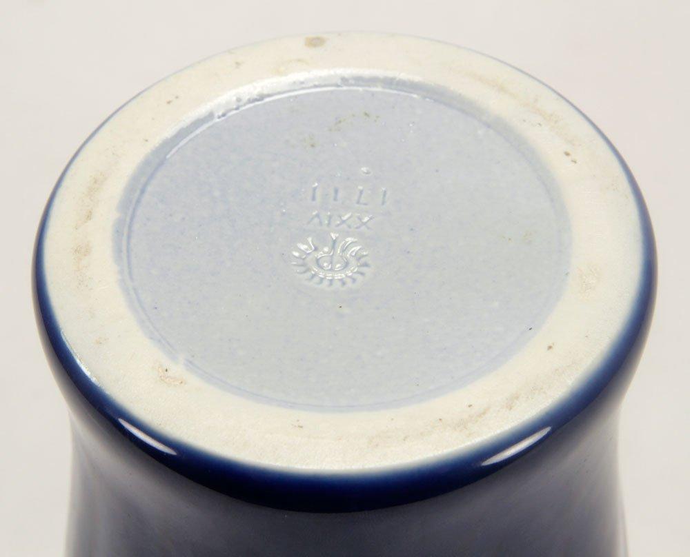 Blue Rookwood Pottery Production Vase - 4