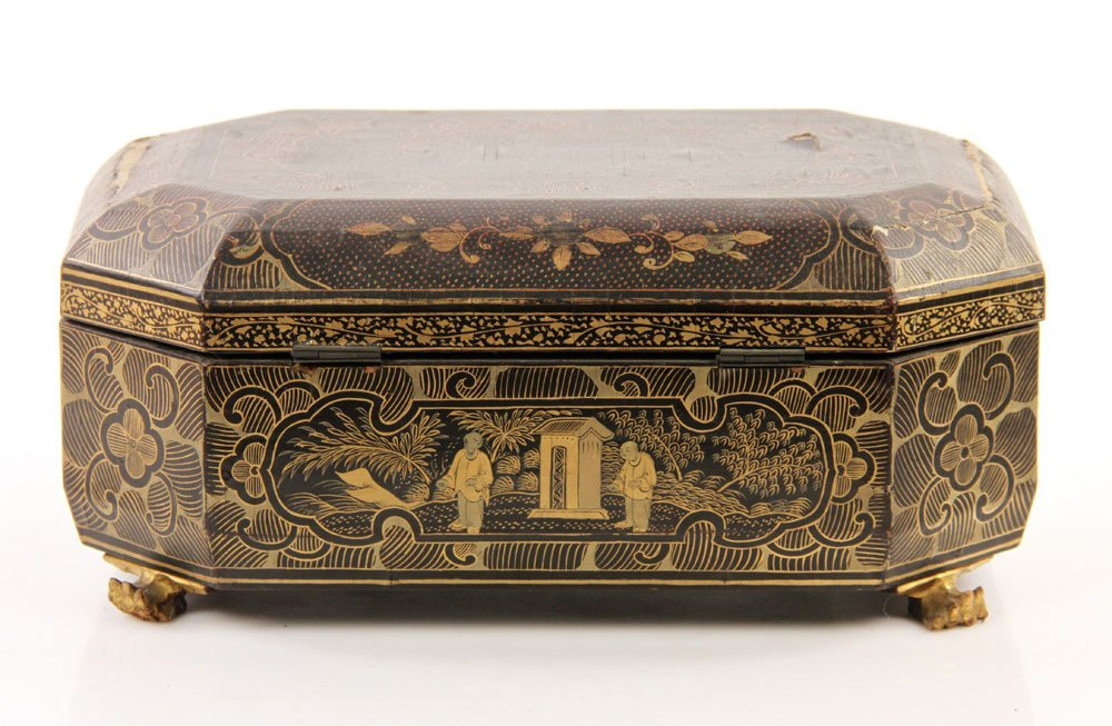Two Chinese Decorated Wood Boxes - 4
