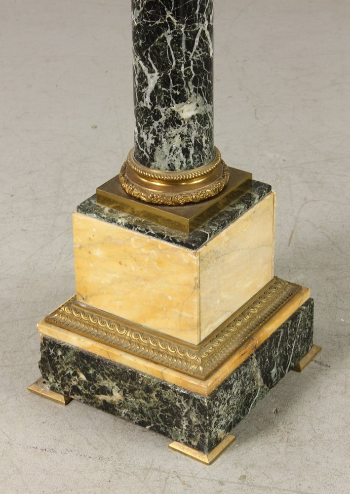 French Empire Style Verte Marble Pedestal - 2