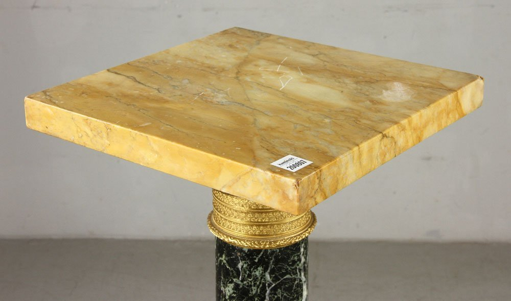 French Empire Style Verte Marble Pedestal - 3