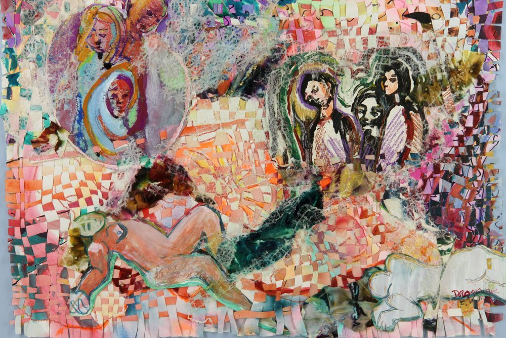 Dazzio, Watercolor and Mixed Media - 2