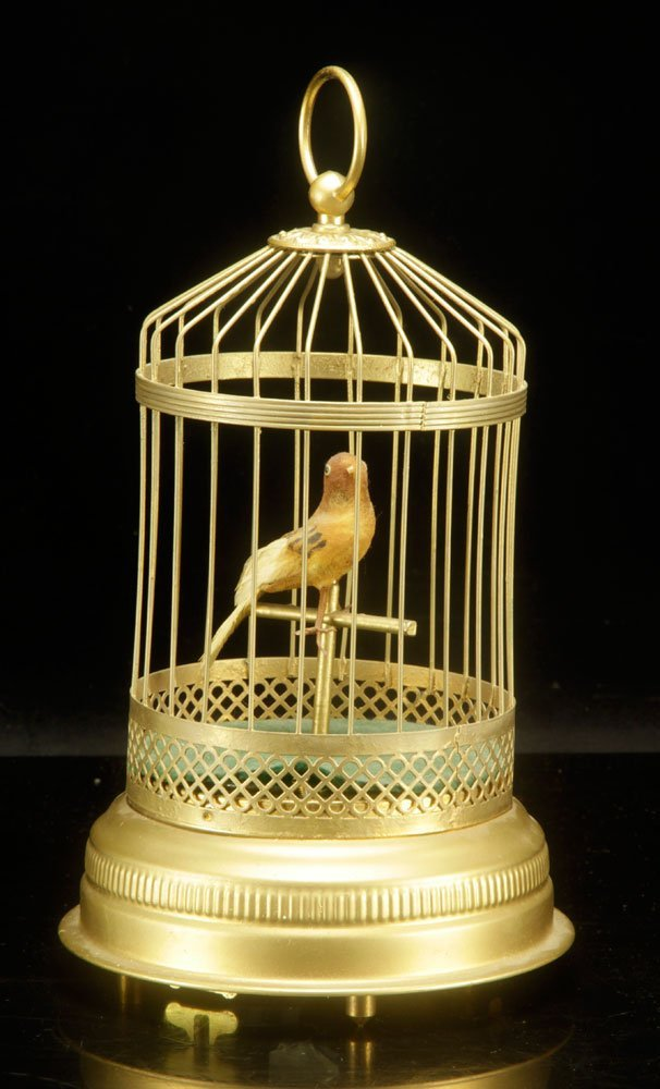 French Musical Bird Cage