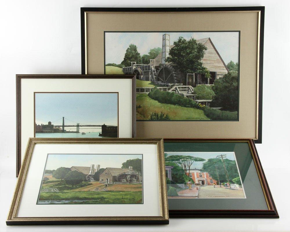 Batchelder, Four Watercolors