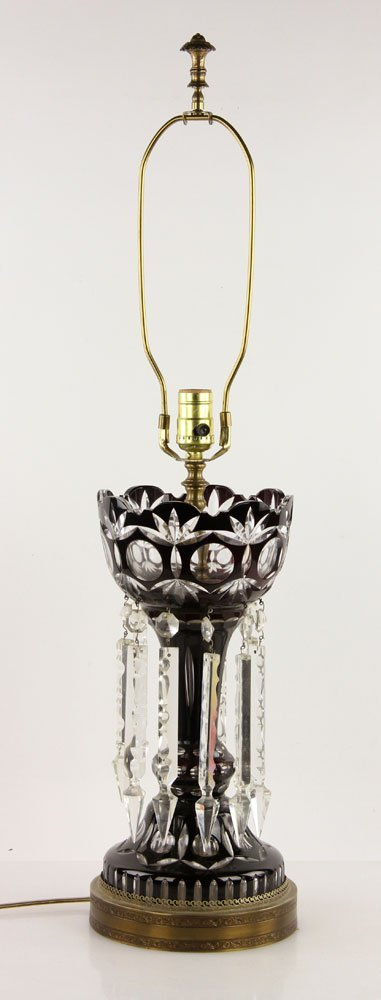 Cut Crystal Lamp and Pr. Iron Floor Lamps - 2