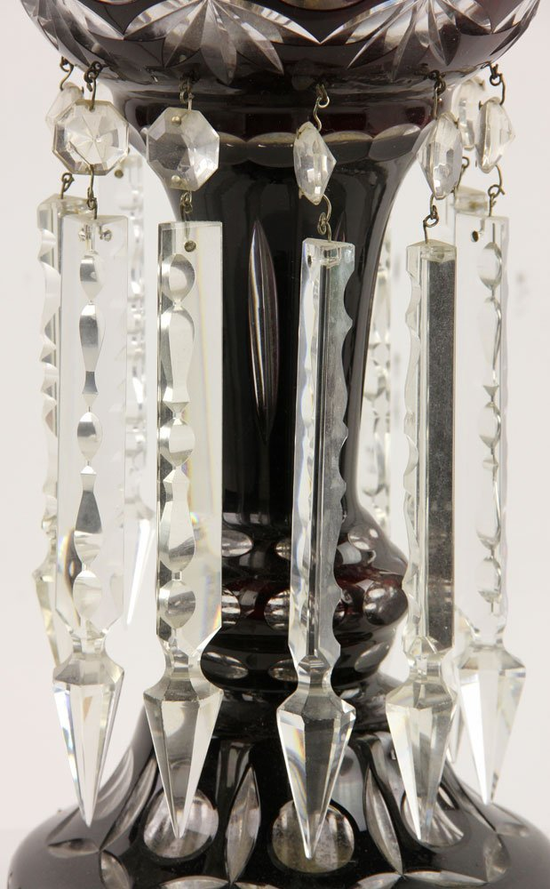 Cut Crystal Lamp and Pr. Iron Floor Lamps - 4