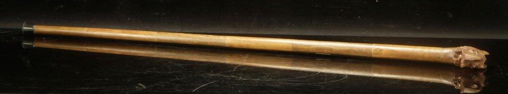 Elephant Form Carved Wood Cane - 2