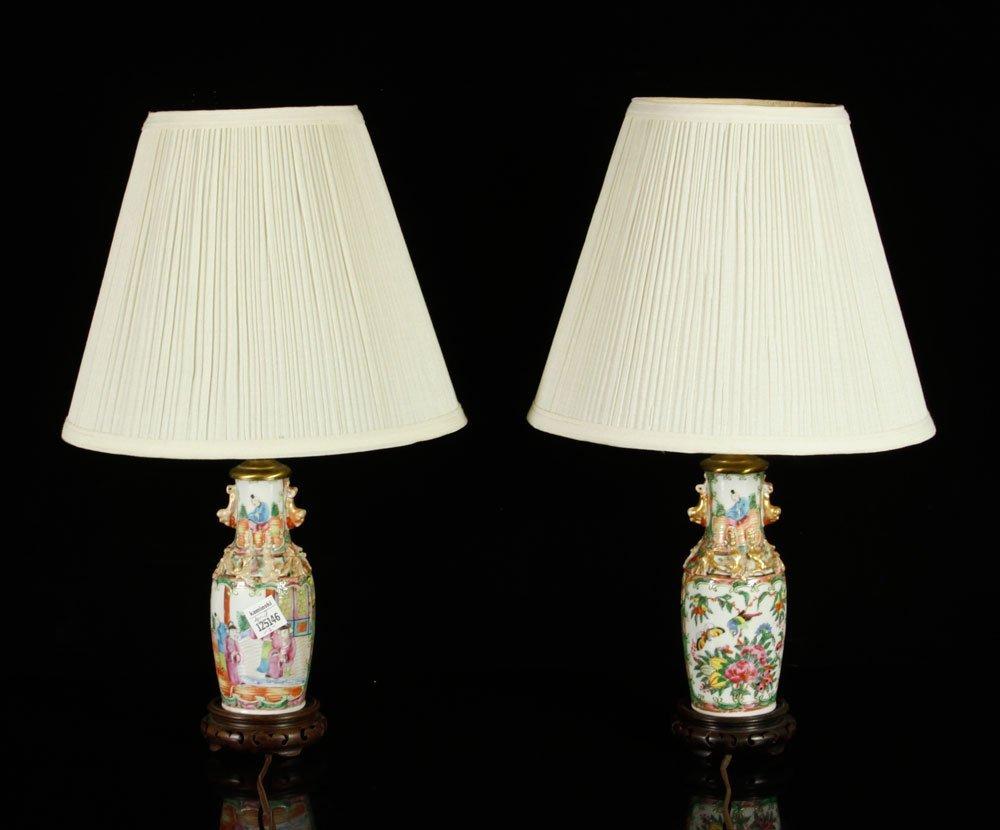 Pr. Chinese Rose Medallion Lamps - 4