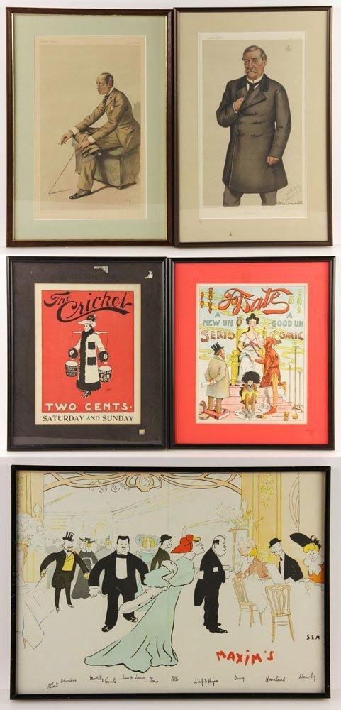 Five Assorted Prints